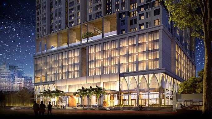 Dự án The Grand Manhattan với khối đế là khách sạn 5 sao quốc tế Avani Saigon – tọa lạc tại 100 Cô Giang – Cô Bắc, Quận 1, Tp. HCM